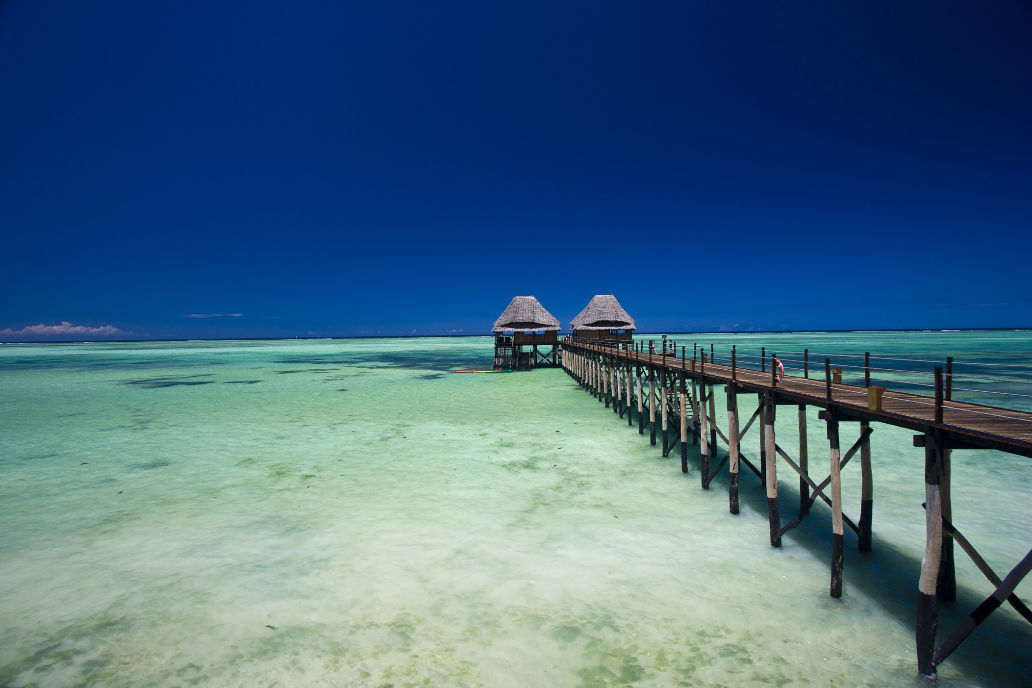 Jetty on Spice Island Zanzibar Tanzania