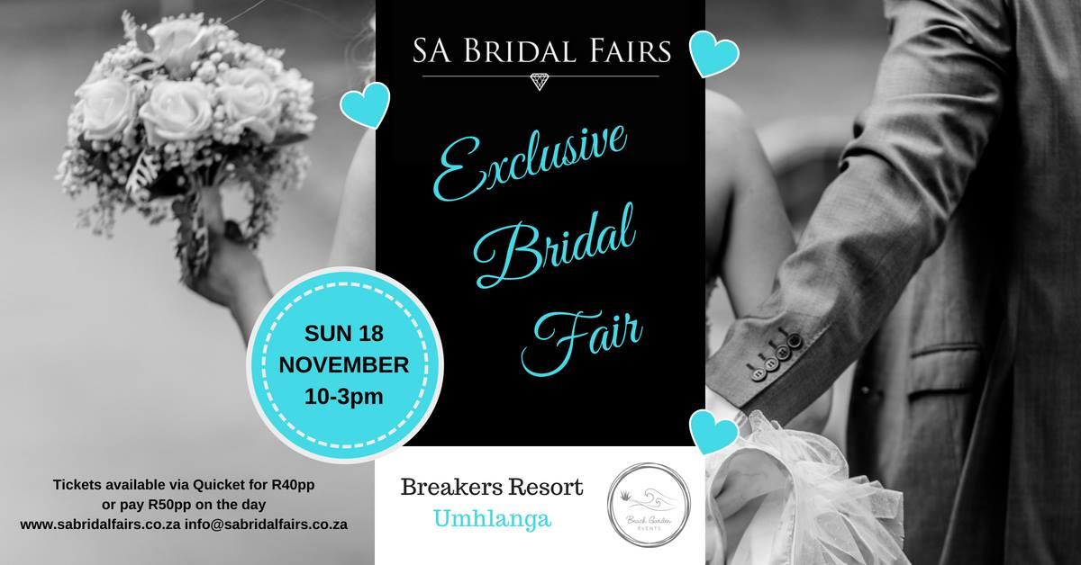 Exclusive Bridal Fair at Breakers Resort 18 November