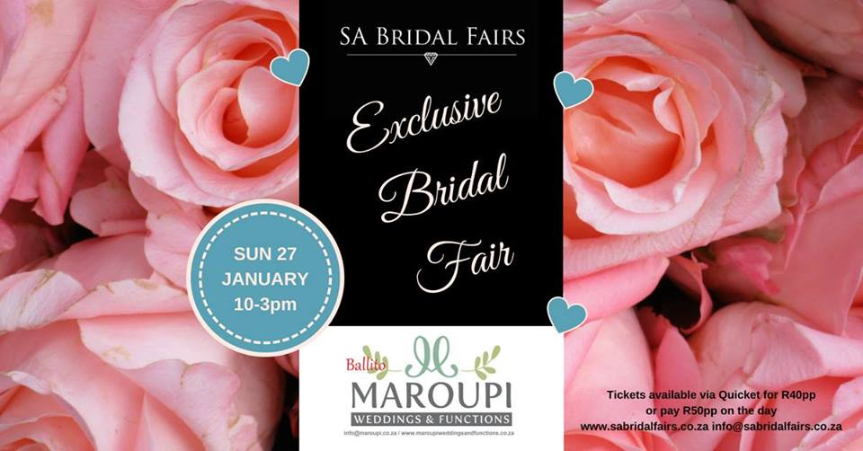 Exclusive Bridal Fair at Maroupi 27 Jan 2019